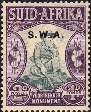 South West Africa 1935 Voortrekker Memorial Afrikanns SG 94 Fine Mint SG 94 Scott B3 Other British Commonwealth stamps for sale here