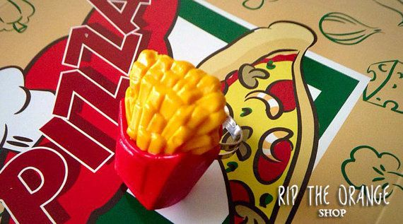 French Fries Ring by riptheorangeshop on Etsy
