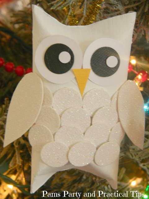 Snow Owl Christmas Ornament