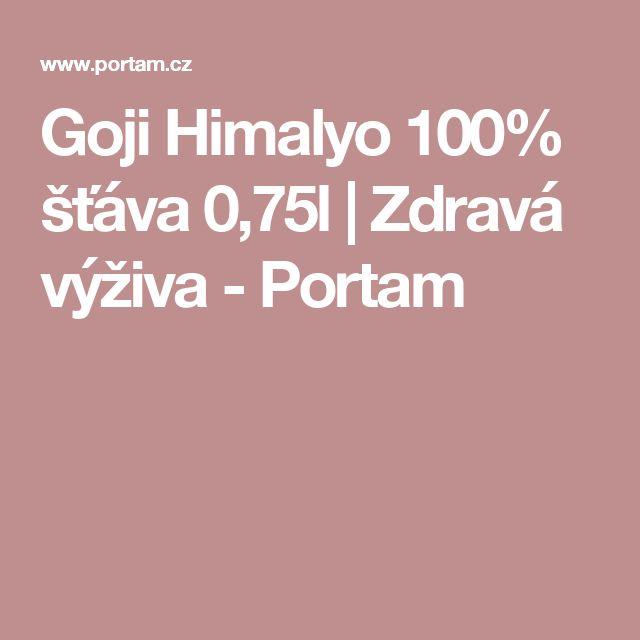 Goji Himalyo 100% šťáva 0,75l | Zdravá výživa - Portam