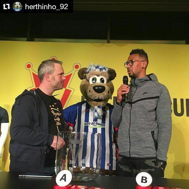#Repost @herthinho_92  #Nike #premier #cup #auslosung mit @jeromeboateng in #berlin mit @herthinho_92 #hahohe