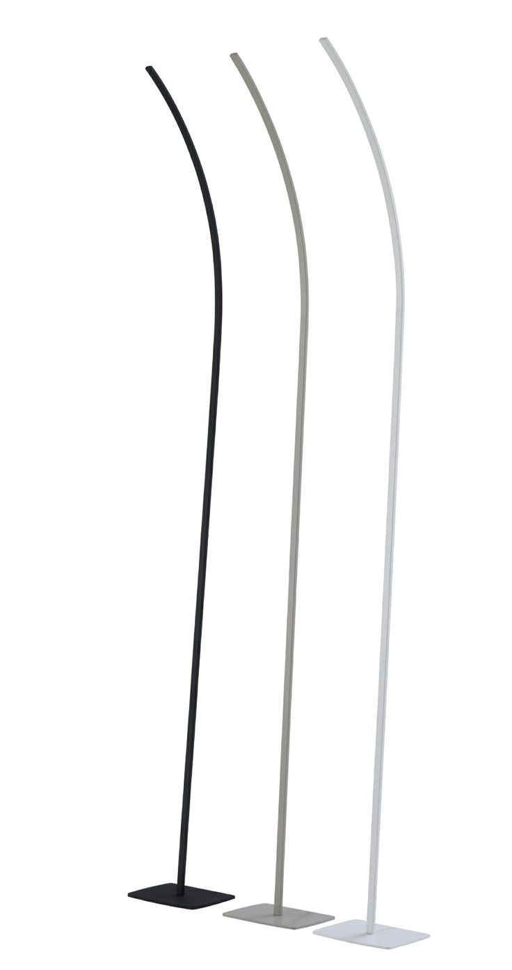 The Streamlined Cil light. A floor light that can be attached to a wall, give of light indirectly via a LED strip. Stcoked in Black or White