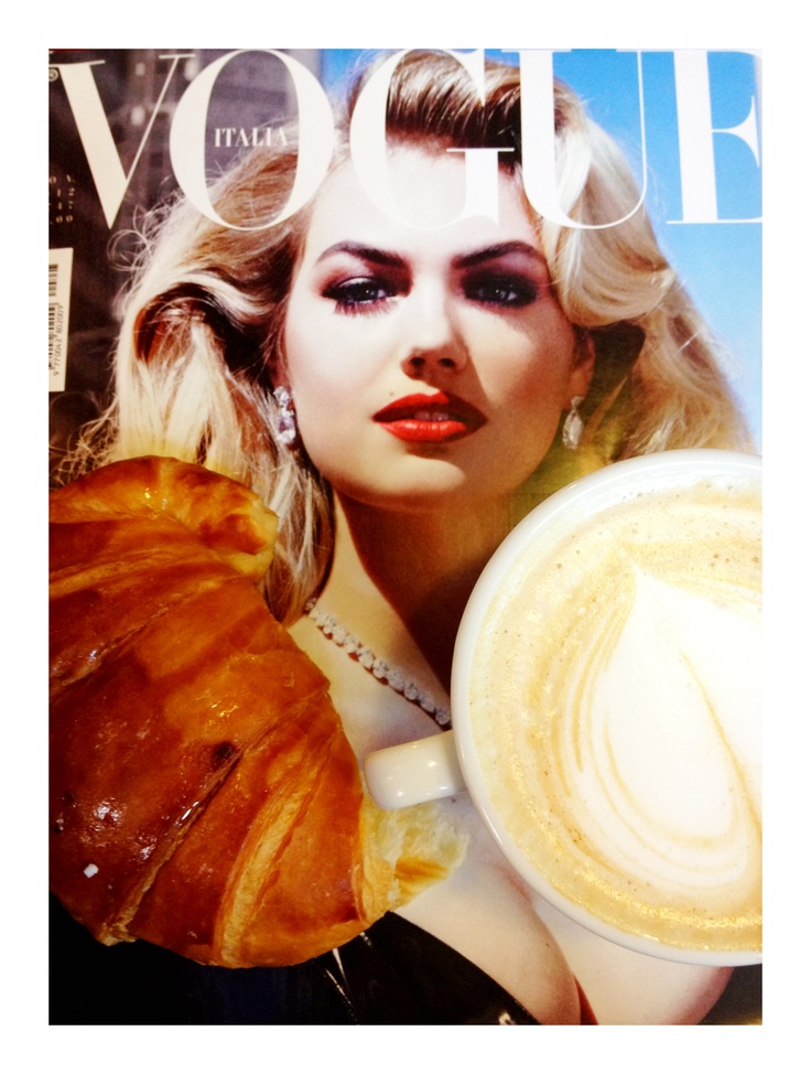 Breakfast with Vogue italia and Kate <3