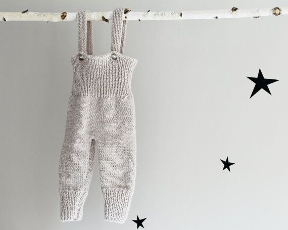Hand Knit Pants Knit Baby Leggings Baby Overall Knit by LalaKa