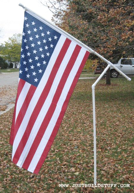 How To Make A Pvc Flagpole For Your Campsite Home Sweet