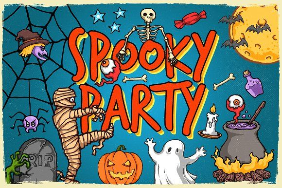 Spooky Party by TSV Creative on @creativemarket