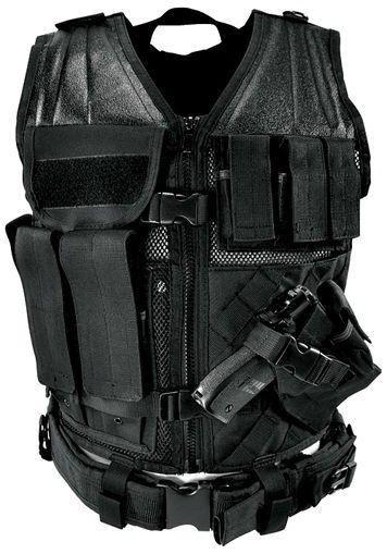NcStar Tactical Vest Black Regular Military Special Forces Swat Police