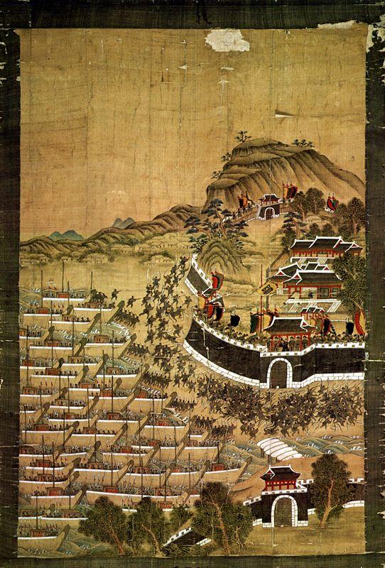 Busanjinsunjeoldo, 부산진순절도, Byeon Bak, Chosun, 1760