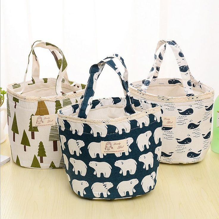 Animal Thermal Insulated Lunch Box Cooler Tote Bento Pouch Lunch Container Bag