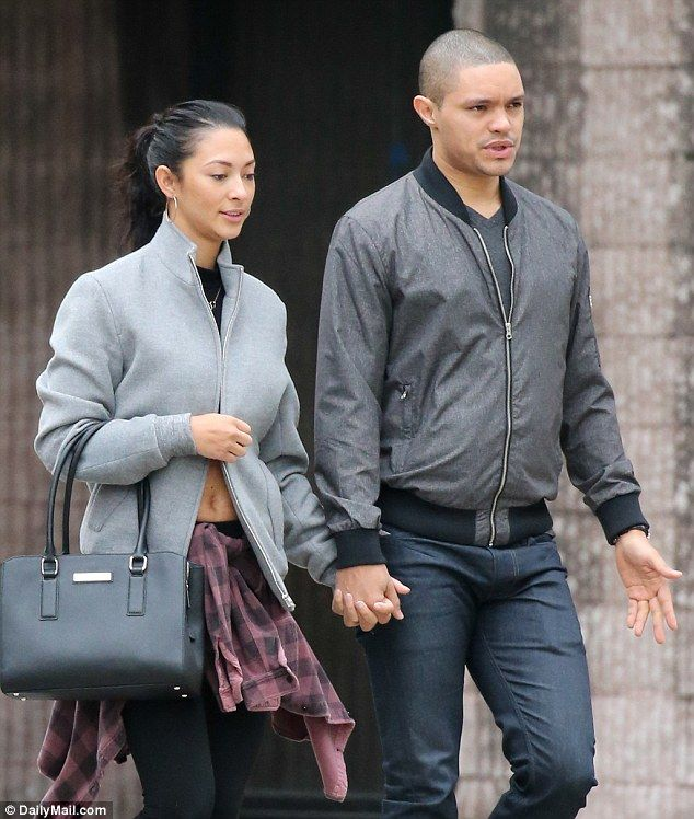 Trevor Noah (pictured with girlfriend Jordyn Taylor) has been dating the model since last summer