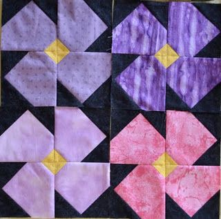 African Violet Quilt...for Kristy's momma!