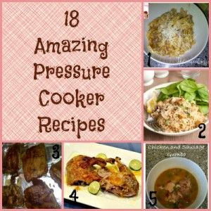 18 Amazing Pressure Cooker Recipes. I just inherited an old (but still new in the box) pressure cooker. I have NEVER used one, so share with me your favorite thing to do with one of these!
