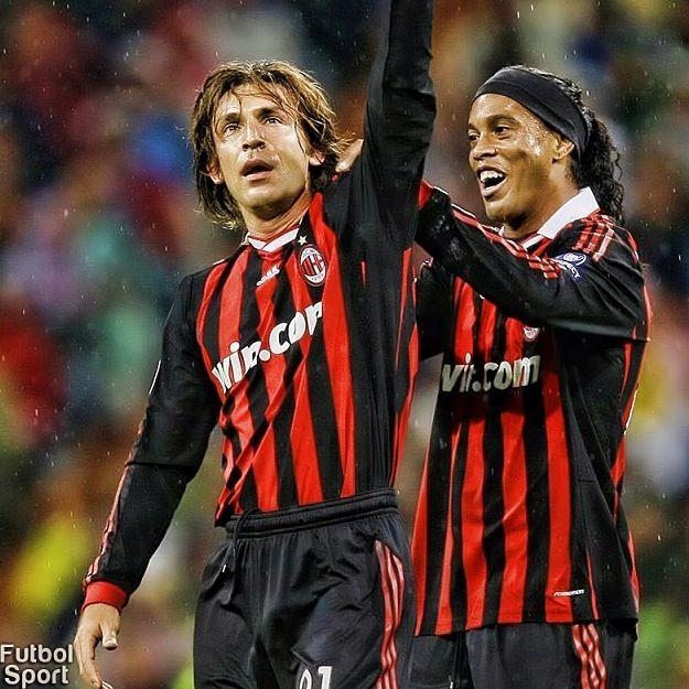 Ronaldinho and Andrea Pirlo AC Milan
