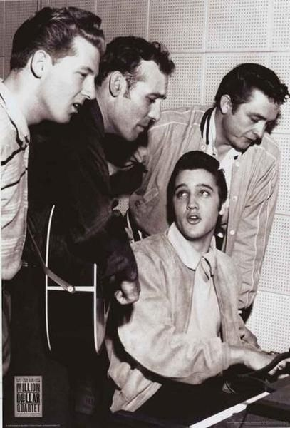 A great Million Dollar Quartet poster! The Broadway musical with songs by Elvis…
