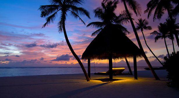 Закат на Мальдивских островах