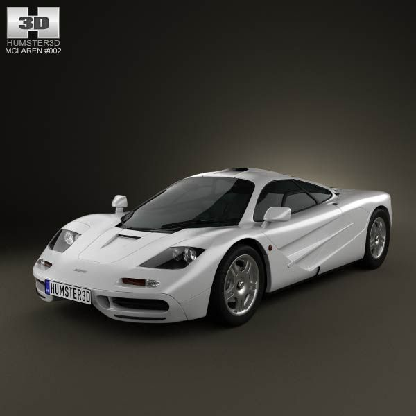 McLaren F1 1995 3d model from humster3d.com. Price: $75