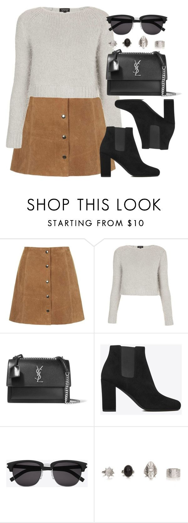 """""""Style #11296"""" by vany-alvarado ❤ liked on Polyvore featuring Topshop and Yves Saint Laurent"""