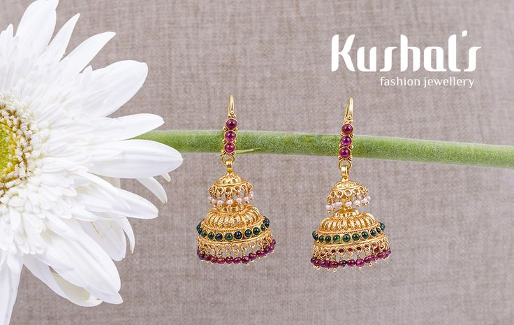 #Silver #TempleJewellery from #Kushals #FashionJewellery #Earrings Design No 50063