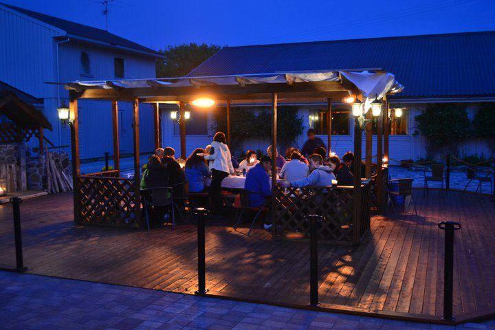 Christineborg Gjesthus, Pavilion. Runde bird and treasure island # Norway