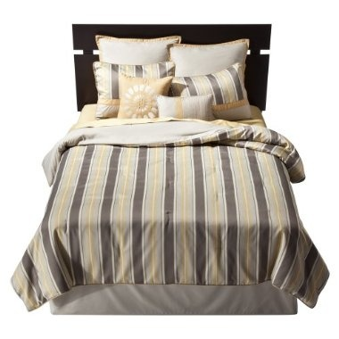Stripe bed set gray and gold gray and yellow target com bedroom comforter bedding guest