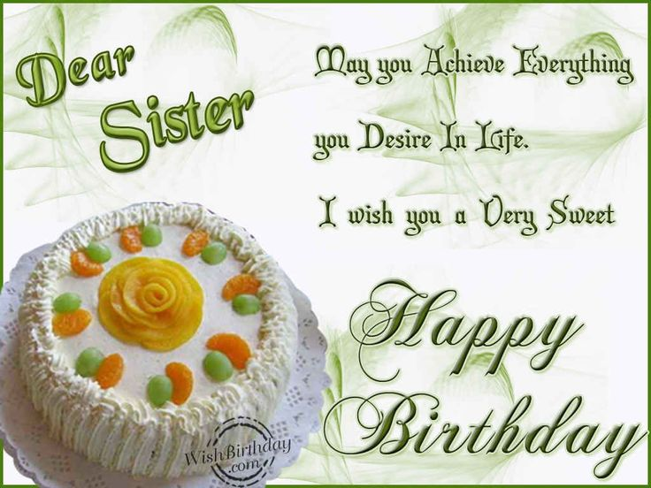 The 25 best Birthday greetings for sister ideas – Sister Birthday Greetings Message