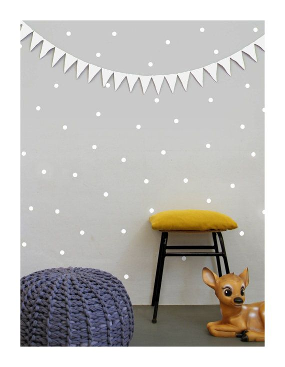 White dot vinyl wall stickers. Brighten up any room with our lovely mini drops wallsticker. Simply just peel from the sheet and stick on any