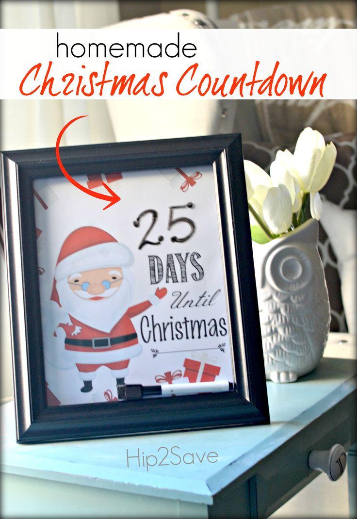 Homemade Christmas Countdown  - (Includes Free Printables for Christmas, Hanukkah, Wedding, & Disney) by Hip2Save