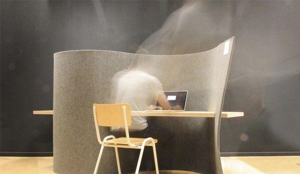Bureau en vis-à-vis / Feltdesk Le Collectif88 Romain Wallon et Jérome Ronsmans designers belges