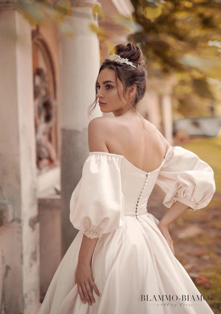 Wedding dress MEDEA with long train by BLAMMO-BIAMO Princess | Etsy