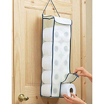 Hanging Toilet Roll Paper Organiser Holder Holds Upto 10 Rolls BNS UK Caddy Dispenser: Amazon.co.uk: Kitchen & Home