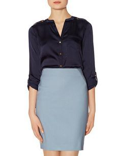 Glossy Split-V Blouse from THELIMITED.com #TheLimited