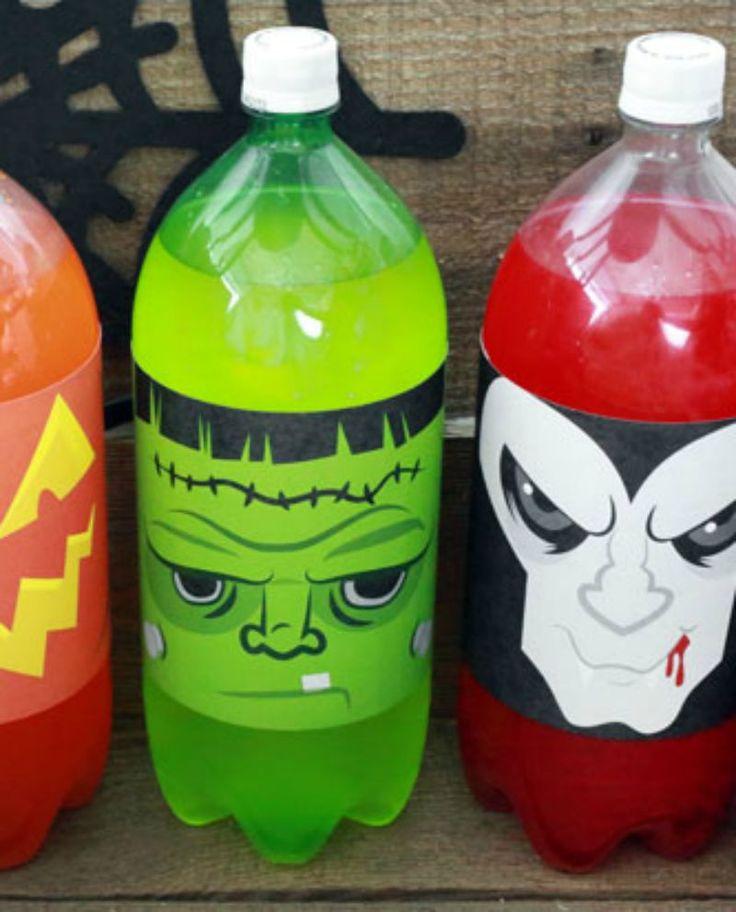Halloween Bottle Lables