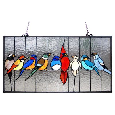 Meyda Tiffany Lodge Tiffany Early Morning Visitors Stained Glass Window & Reviews | Wayfair
