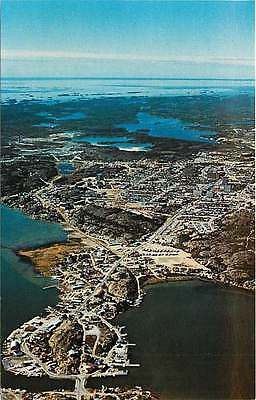 Yellowknife North West Territories Canada 1970 Aerial Town View Vintage Postcard