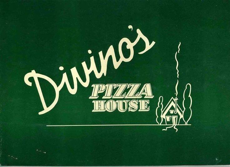 Divino's Pizza House Menu Riverside Drive Burbank California 1950's