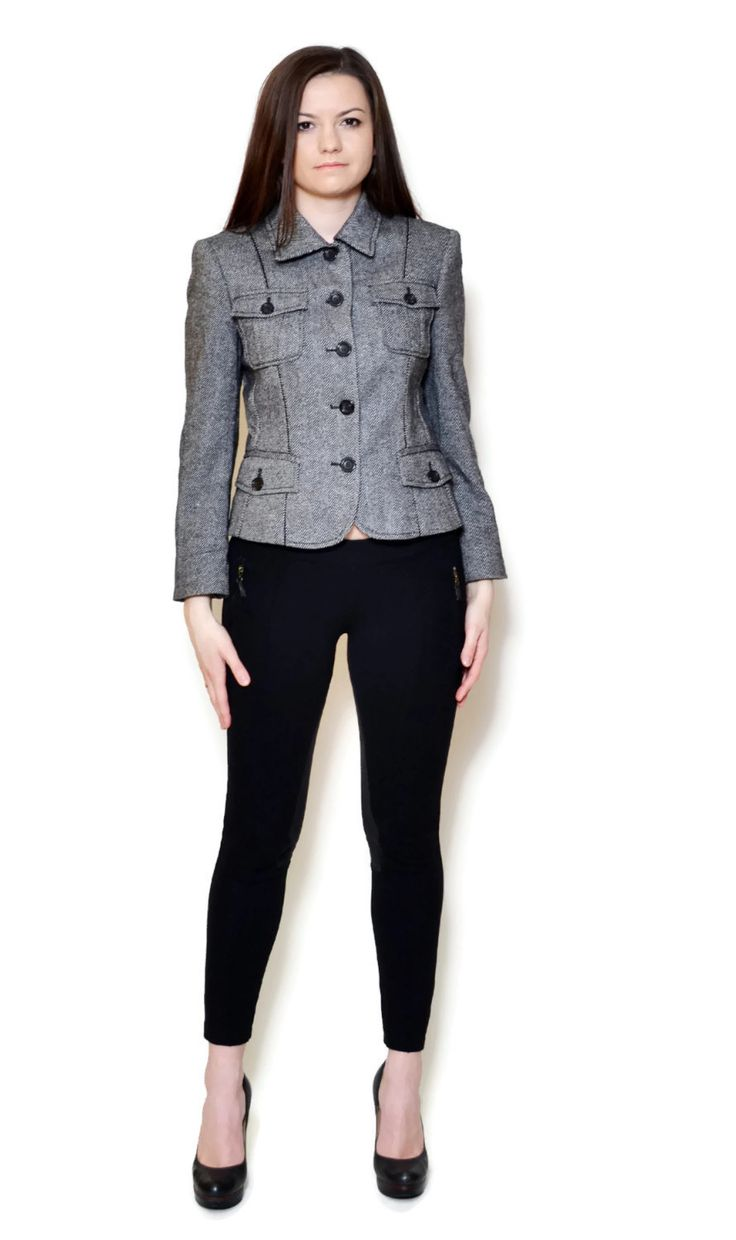 black and white blazer outfit business  US$59.95