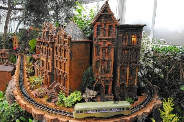 fantasy botanicals | Holiday Train Show at Botanical Garden offers behind-the-scenes look ...