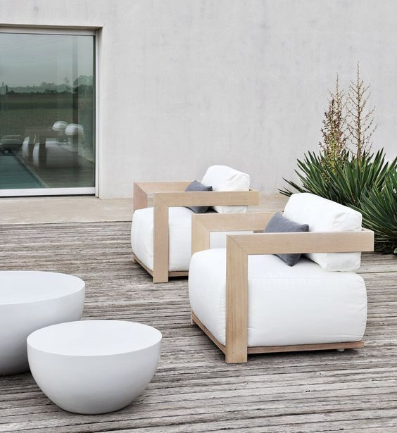 very stylish wooden garden furniture adamchristopherdesigncouk