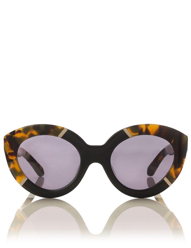 Crazy Tortoiseshell Flowerpatch Sunglasses   Karen Walker   Avenue32