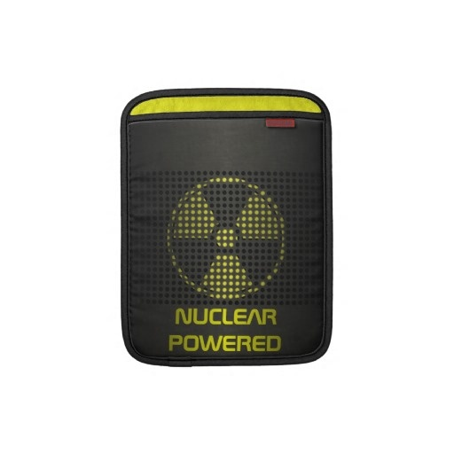 Nuclear Powered iPad Sleeve by BannedWare