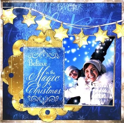 Christmas page created with Magical Christmas collection by Reminisce.