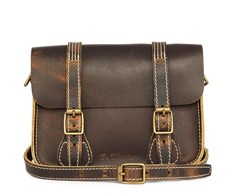 "Dr. Martens 7"" Leather Satchel. Ideal for everyday use."