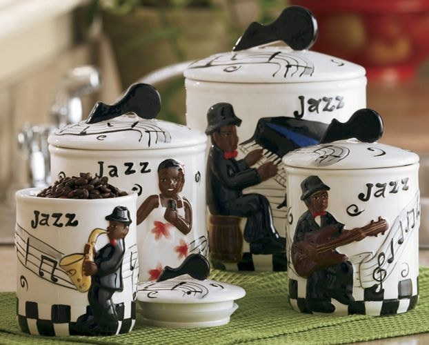 jazz Canister Set. Cute! | Kitchen cannisters | Pinterest