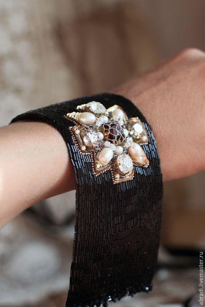 Gorgeous beaded bracelet / Браслеты ручной работы. Ярмарка Мастеров - ручная работа. Купить Браслет. Handmade. Черный, вышивка