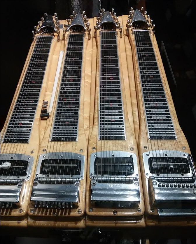 Checkout this Wright Custom four-neck pedal steel guitar used by Barbara Mandrell, on display at the Country Music Hall of Fame.