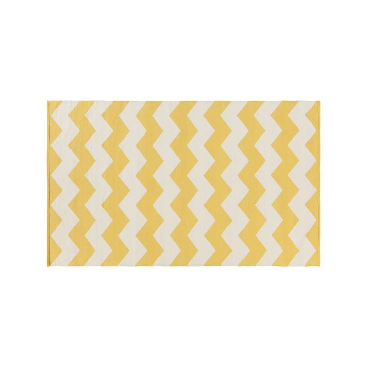 Surya Vogue Collins Chevron Rug, Yellow
