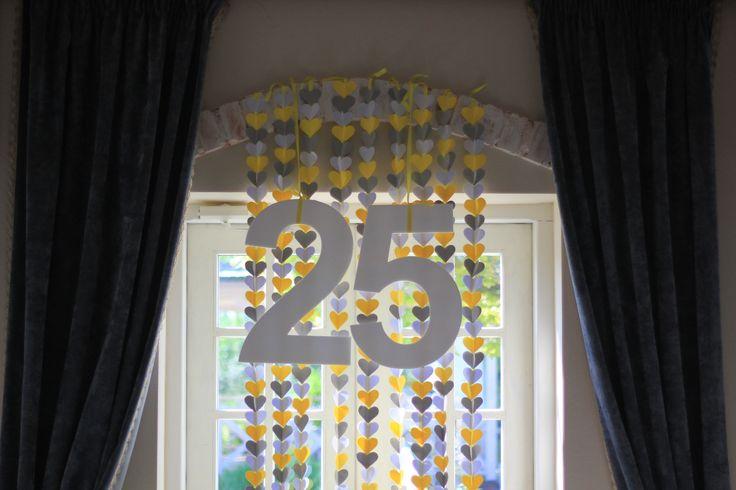 Srebrne wesele | www.slubnawzorcownia.blogspot.com #dekoracje #wesele #rocznica