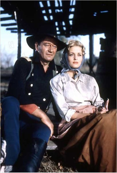 """""""THE HORSE SOLDIERS"""" - John Wayne and Constance Towers"""