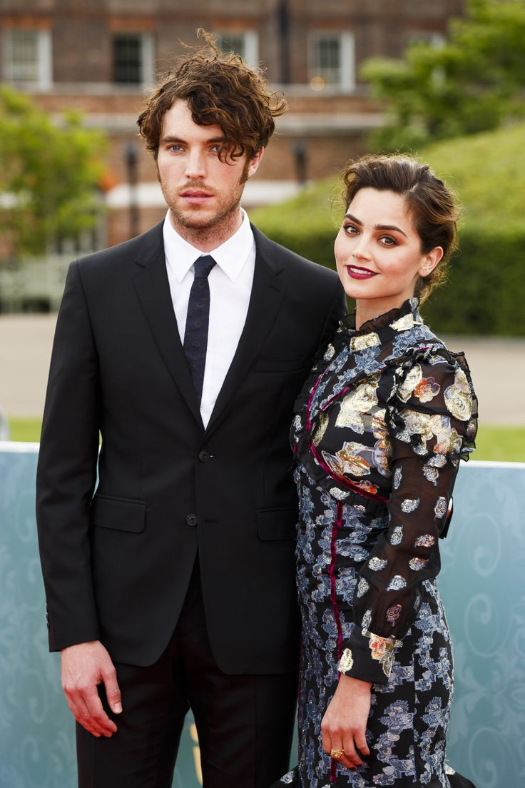 Tom Hughes and Jenna Coleman at the premiere of ITV's Victoria, at The Orangery, London, August 11, 2016