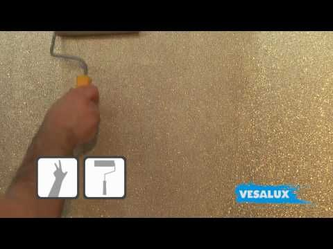 VESALUX Go Glitter | Shimmering Glitter Paint for Walls ~ I think Ashton needs a wall like this in her room!